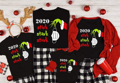 Matching Christmas Pajama Shirts For Family, Quarantine 2020 Christmas Shirts
