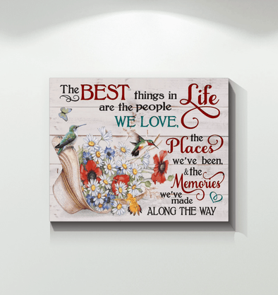 Hummingbird The best life custom name Canvas Prints #V