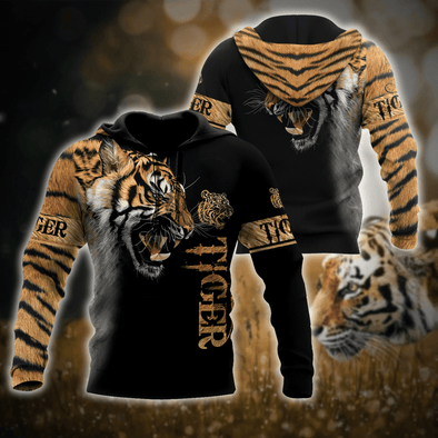 Tiger Hoodie 3D All Over Print Custom Name #V