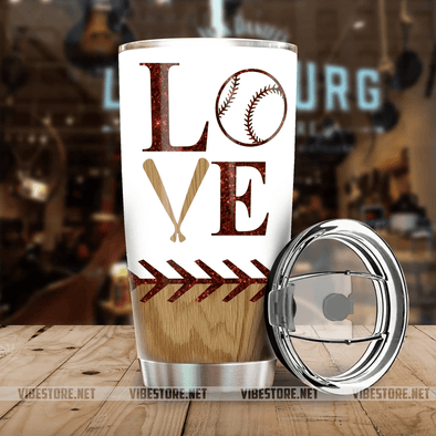 Baseball Love Stainless Steel Tumbler with Your Name #V