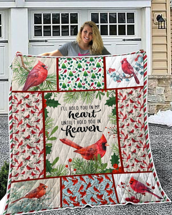 Cardinal Heart and Heaven All Season Quilt Throw Blanket #1010H