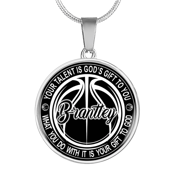 GearLaunch Jewelry Custom Basketball necklace Your talent is God's gift to you