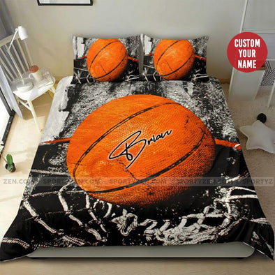 Basketball Art Customized Name Duvet Cover Bedding Set #297H