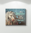 Be a unicorn in a field of horses Canvas Print Wall Art