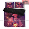 Galaxy Black girl magic African Custom Name Duvet Cover Bedding Set #1906v
