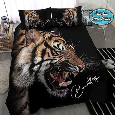 Tiger Roar Custom Name Duvet Cover Bedding Set #1509V