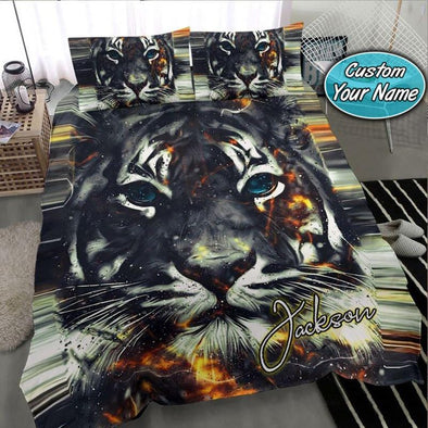 Tiger Thunder Bedding Custom Name Duvet Cover Bedding Set #1009V