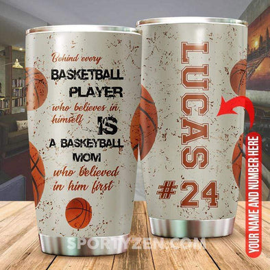 zpod Personalized Tumbler Behind every basketball player 20z Double-walled Stainless Stell #233h