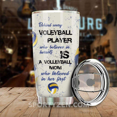 zpod Personalized Tumbler Behind every volleyball player 20z Double-walled Stainless Stell #233h