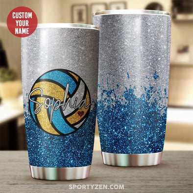 manual Personalized Volleyball Tumbler 20 Oz Stainless Steel #203l