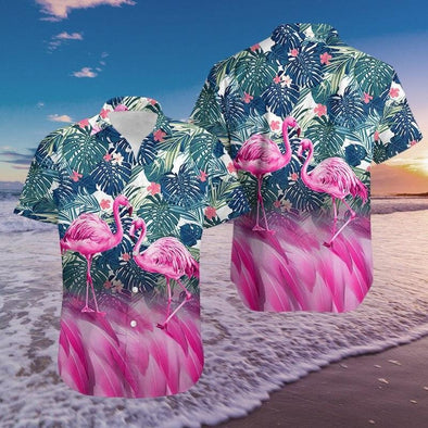 3D Flamingo Hawaiian Aloha Shirts #2909L