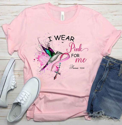I wear pink for me Breast Cancer T-shirt #1910L