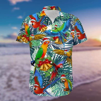 Parrot Christmas So Cute Unisex Hawaiian Aloha Shirts #H