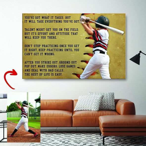 Baseball custom canvas prints You've Got What It Takes With Photo #240919L