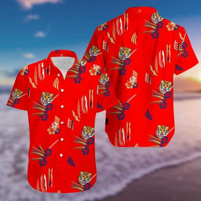 Tony Montana Red Unisex Hawaiian Aloha Shirts #H