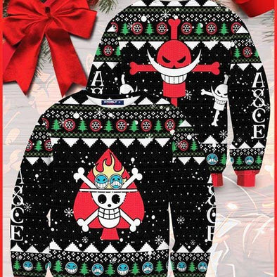 Skull Pirate Ace Christmas Sweater 100% wool material