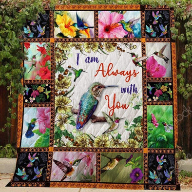 lionnix quilt Hummingbird and Flower colorful All Season Quilt Throw Blanket