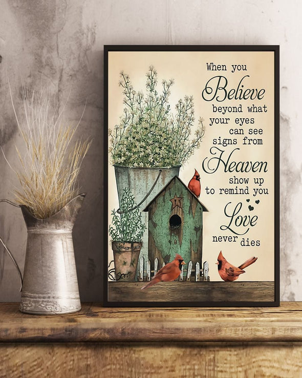 Cardinal Love Never Dies canvas print #H