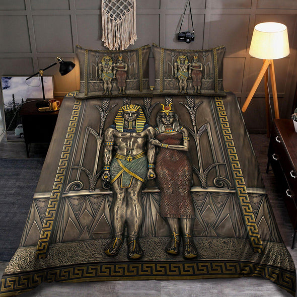 Ancient Egyptian Pharaoh Bedding Custom Name Comforter Set Duvet Cover Bedding Set #V