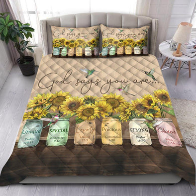 God says you are Quilt Bed Set #v