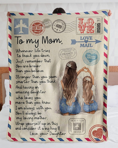 Mother day, to my mom I am always with you custom name blanket #V