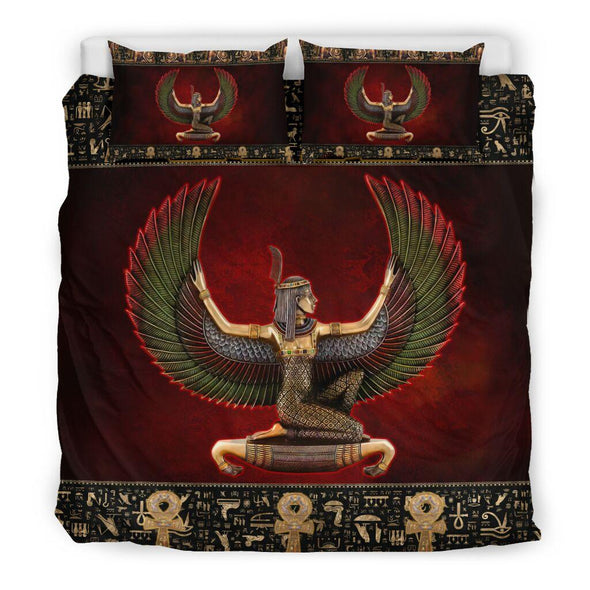 Ancient Egyptian Ma'at Bedding Custom Name Comforter Set Duvet Cover Bedding Set #H