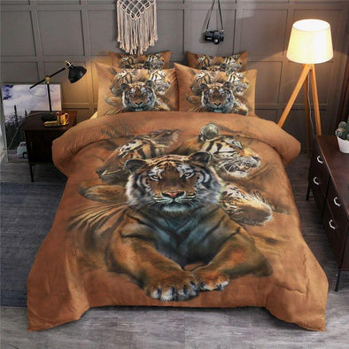 Tiger Power Bedding Custom Name Duvet Cover Bedding Set #V