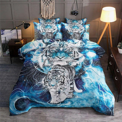 White Tiger Power Bedding Custom Name Duvet Cover Bedding Set #H