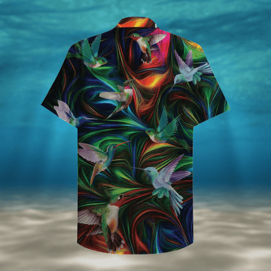 Colorful Hummingbird Tropical Full Printing Hawaiian Shirts #HL