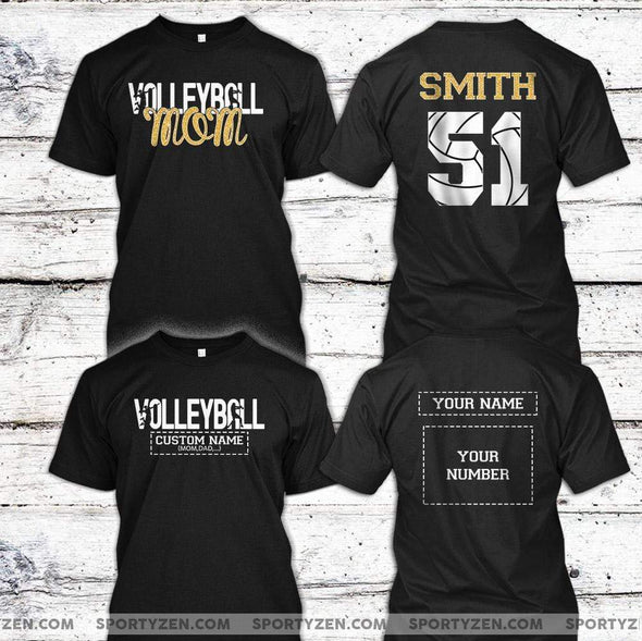 buger T-shirt Volleyball Mom  - Customized Name and Number Shirt #70420
