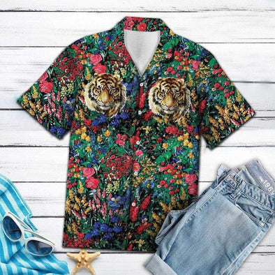 Sportyzen Tiger Flowers Hawaii Shirt #V