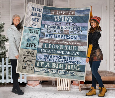 To my wife, you are my love custom name Quilt #V