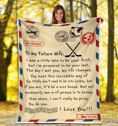 A letter to your love one Custom Hockey Blanket