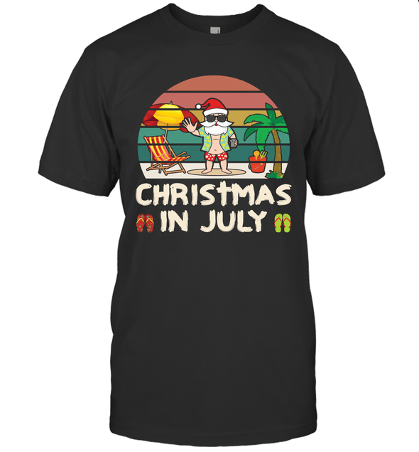 Christmas in July Funny Santa on the Beach Summer Gifts