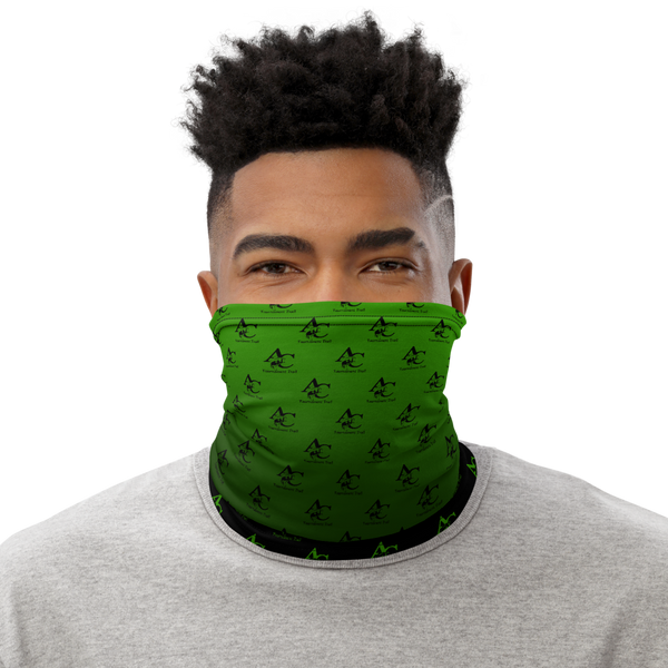 Neck Gaiter, Black - Lime GradInverse