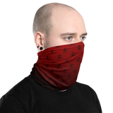 Neck Gaiter, Black - Red GradInverse