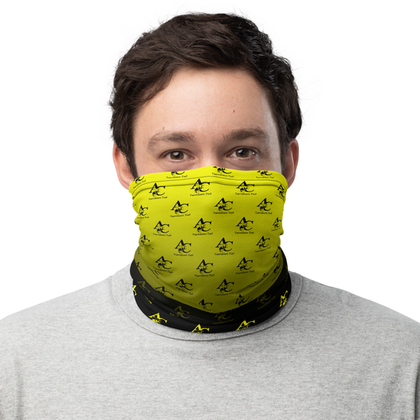 Neck Gaiter, Black - Yellow GradInverse