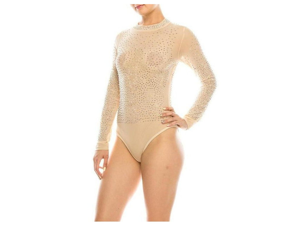 Women's Sheer Mesh Turtleneck See through bodysuit