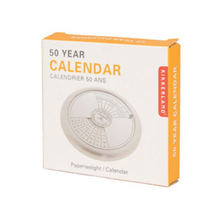 Load image into Gallery viewer, 50 YEAR CALENDAR PAPERWEIGHT