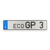 Official eco Grand Prix Race License Plate