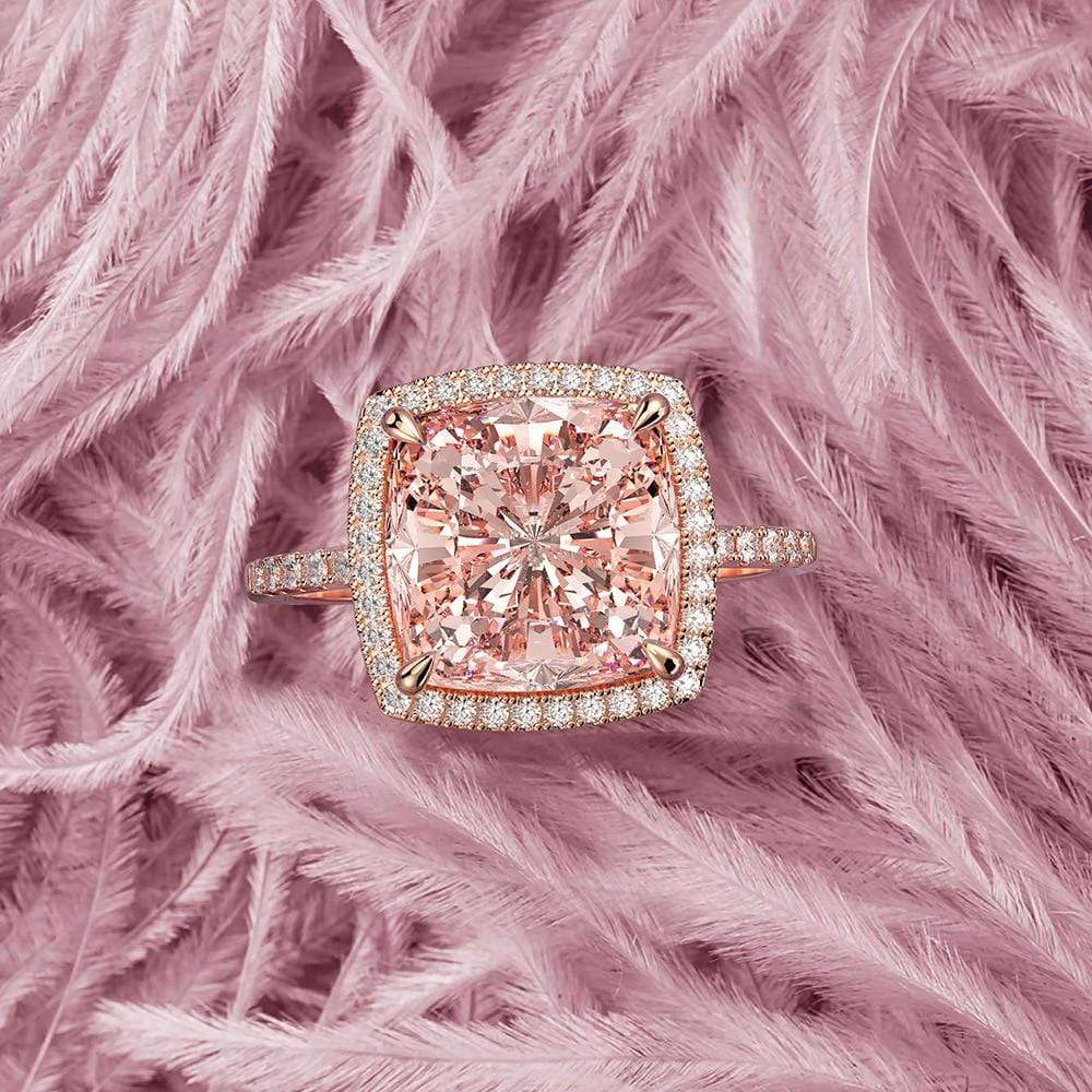 Secret Story Jewelry Rings Be Elegant Morganite Gemstone 925 Sterling Silver Ring