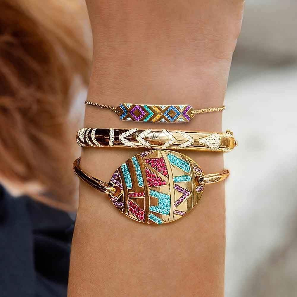 Ethnic Colorful Tribe Adjustable Bracelets / Bangle