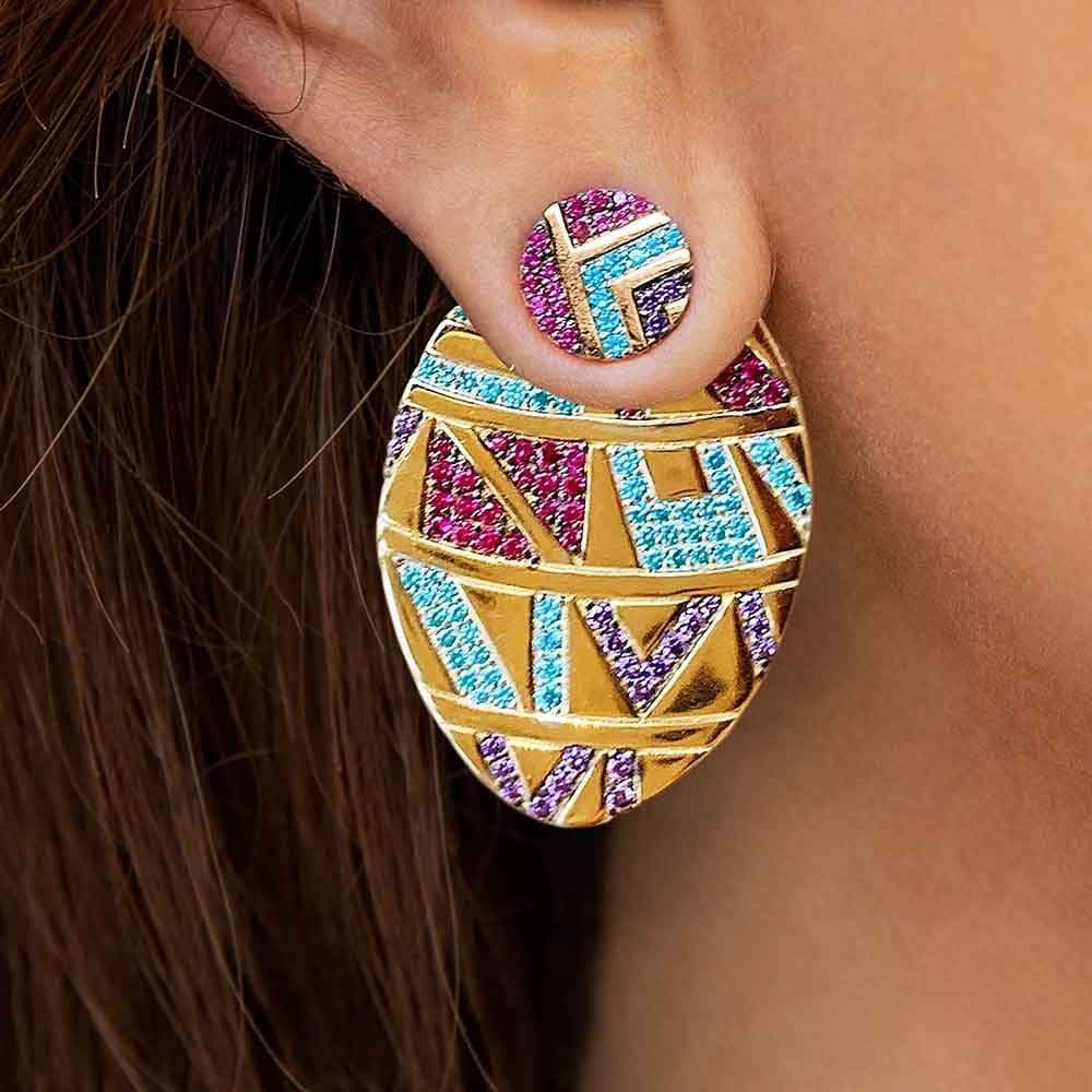 Ethnic Tribal Geometric Colorful Earrings
