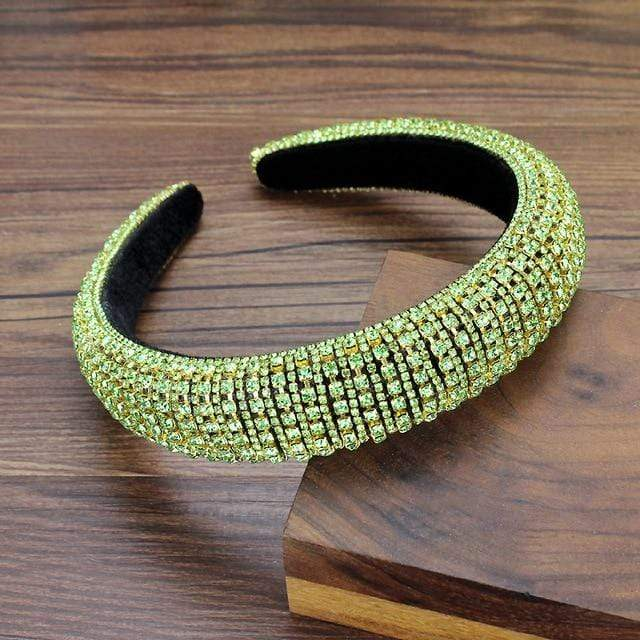 Secret Story Jewelry Accessories Green Crystal Padded Headbands