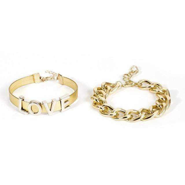 Secret Story Jewelry Bracelet Love Chain Gold Bracelets