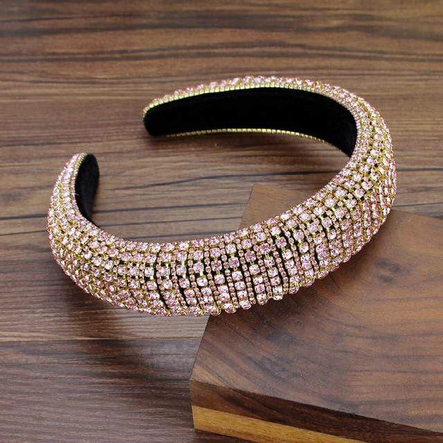 Secret Story Jewelry Accessories Pink Crystal Padded Headbands