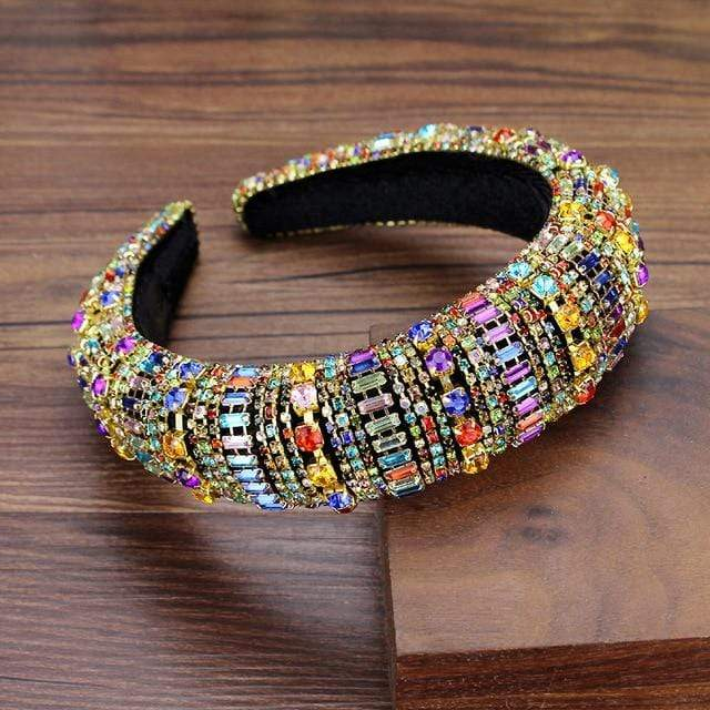 Secret Story Jewelry Accessories Rainbow Crystal Padded Headbands