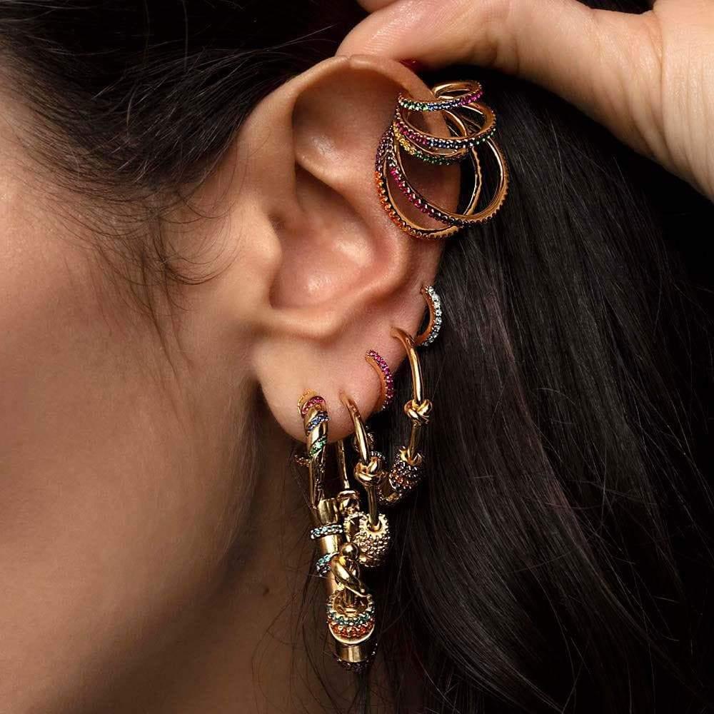 Secret Story Jewelry Earring Rainbow Statement Multiple Rings Ear Cuff