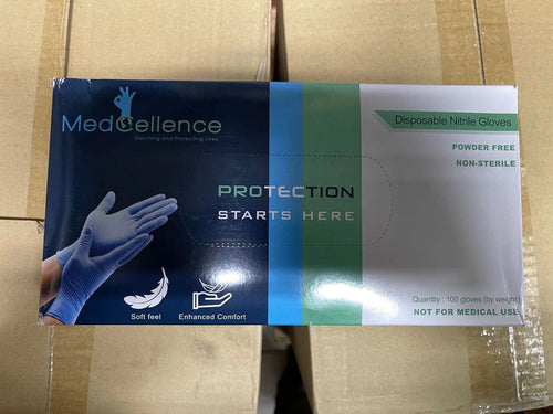 MedCellence Disposable Nitrile Gloves(100pcs) - CanMedic Tech