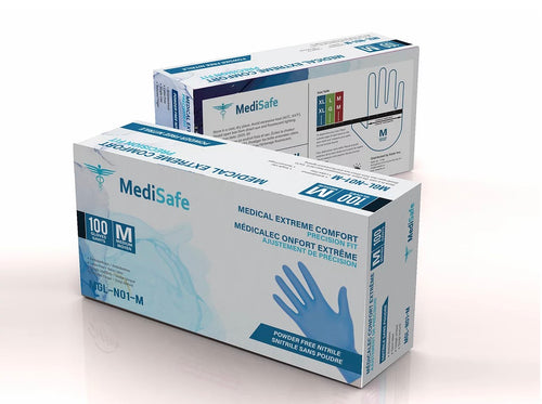 Medisafe Medical Extreme Comfort Powder Free Nitrile Gloves M - CanMedic Technology Inc.
